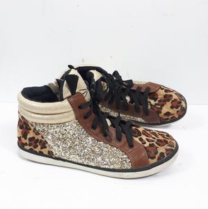 Justice Leopard Print Woman's Sz 9 Shoes